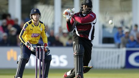 Adam Wheater keeps wicket for Hampshire against Chris Gayle. Wheater has returned to Essex this seas