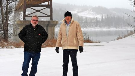 Rob Stacey and his friend Phil Brooks in Canada.