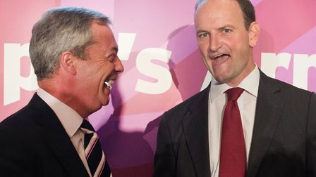 Former UKIP leader Nigel Farage and Douglas Carswell pictured in 2014.