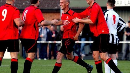 Achilles players celebrating a goal. Stock image. Picture: James Ager