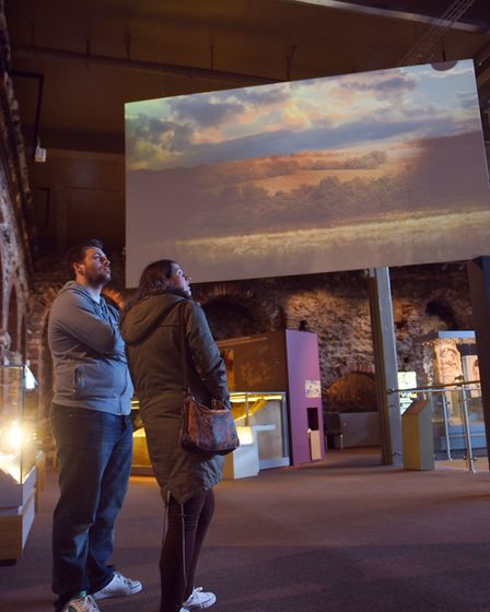 John Child's and Katie Garlick visiting Colchester Castle. Photo: SARAH LUCY BROWN