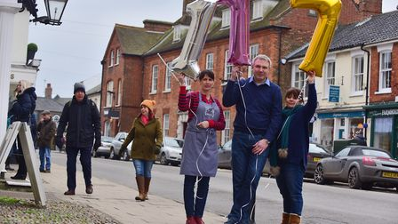 Businesses in Southwold held protests about business rate rises - up to 300% for some of them and an
