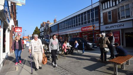 Felixstowe town centre, where average rateable values are set to increase by 18.7%. Picture: GREGG B