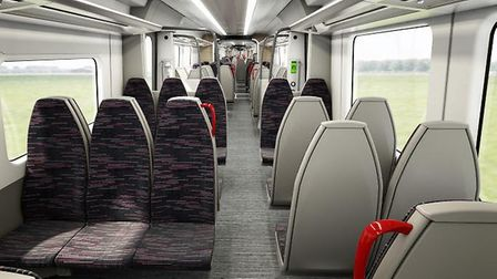 Inside one of Bombardier's suburban trains.