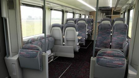 Inside the Intercity carriage - Standard Class.