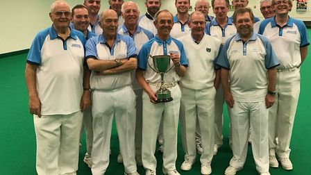 Champions: Risbygate's squad, winners of the men�s indoor county men�s fours competition