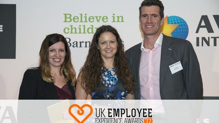 Leah Queripel, HR director, at Care UK, received the company's award at the UK Employee Experience A