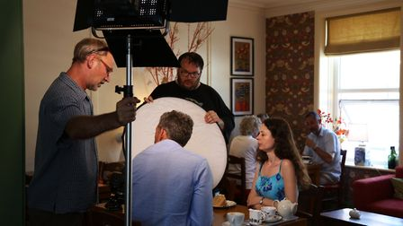 The shooting of a scene for a new promotional film which aims to attract more visitors to Harwich an