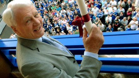 Sir Bobby Robson receives the Freedom of the Borough in Ipswich as the Blues team of 1978 reunites t