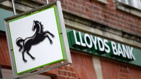 The Lloyds Banking Group is to close 100 branches, including that in Derby Road, Ipswich. Photo: An