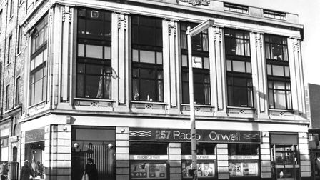 Picture of Radio Orwell in Electric House, Ipswich. 1980
