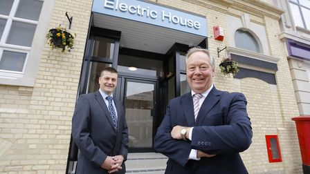 Electric House Jeremy Goddard, Corindale Properties and Chris Fuller, Lloyds Bank Commercial Bank