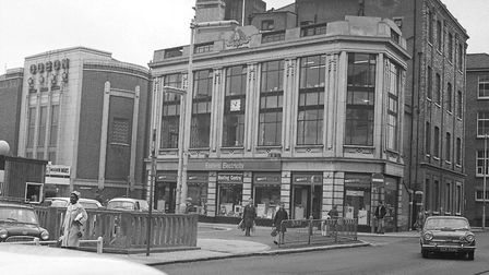 Electric House, Crown Street, Ipswich. August 1969
