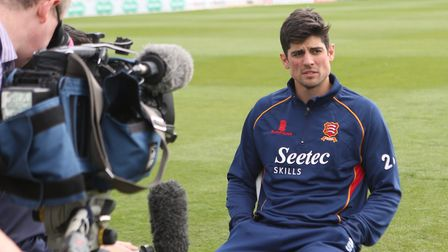 Alastair Cook meets the media yesterday. Pictures: SEANNA HUGHES