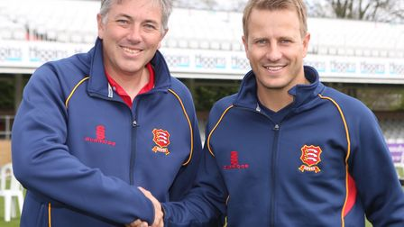 Essex coch Chris Silverwood and new star Neil Wagner