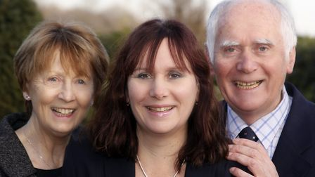 Ufford Park managing director Tarnia Robertson with her parents, Shirley and Colin Aldous, who estab