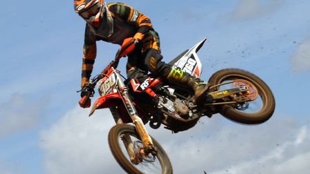 Jake Nicholls in high-flying action