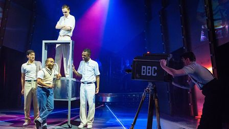 Julian Capolei, Lukus Alexander, William Grint, Matthew Jacobs-Morgan in Tommy at the New Wolsey The