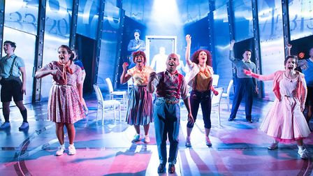 The cast of Tommy at the New Wolsey Theatre. Picture: MIKE KWASNIAK