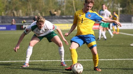 Ollie Dunlop put in a lively performance for AFC. Richard Marsham/RMG Photography