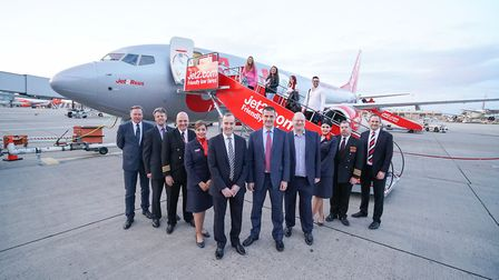 Andrew Cowan, Stansted Airport chief executive, and Steve Heapy, Jet2.com and Jet2holidays chief exe