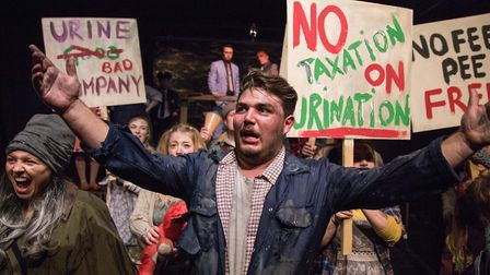 Wade Ablitt as Bobby leader of the revolutionaries in The Gallery Players production of Urinetown at