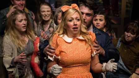 Zoe Ransome as Hope n The Gallery Players production of Urinetown at the Sir John Mills Theatre. Pic