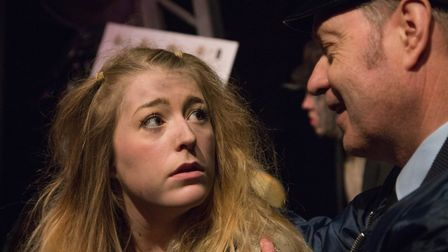 Bronte Fletcher as Little Sally in The Gallery Players production of Urinetown at the Sir John Mills