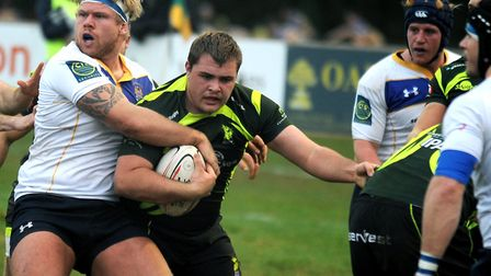 David Coutts, in action against Old Elthamians, will switch from tight head to loose head prop again