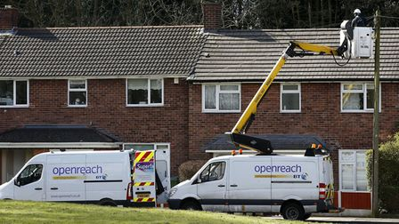 An Openreach engineer at work. Photo: Peter Byrne/PA Wire