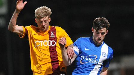 Jon Stead, left, playing for his former club Bradford, will be looking to add to his 13 goals for th