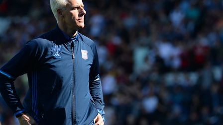 Ipswich Town boss Mick McCarthy at Fulham. Photo: PAGEPIX