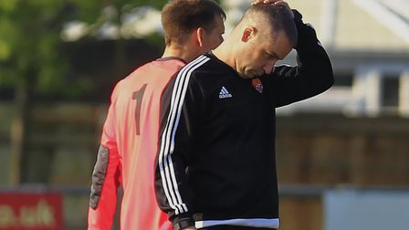 Manager Kevin O'Donnell ponders the setback to Felixstowe's championship hopes
