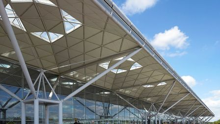 The main terminal building at Stansted Airport.