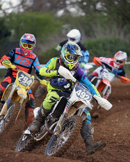 Action from the junior at Blaxhall