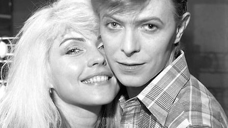 Debbie Harry with David Bowie pictured by Debbie's partner Chris Stein. This picture forms part of t