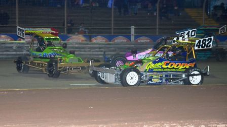 Superstox world champion (482) Jason Cooper will be in action at Foxhall on Saturday.