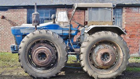 A rare County 954 Super-Six tractor, discovered on a county council farm in Hertfordshire and dating