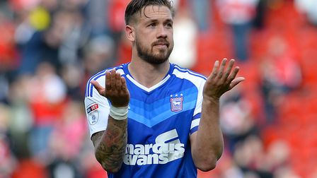 Ipswich Town skipper Luke Chambers shrugs his shoulders after defeat at Rotherham. Photo: PAGEPIX