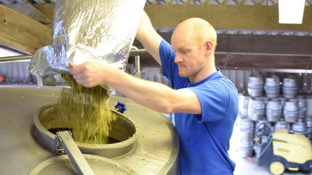 The brewing process at Calvors in Coddenham. Picture: UNIVERSITY OF SUFFOLK