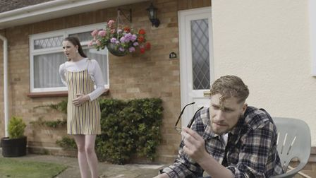 A still from the cinematic trailer of Eat Your Principles, which features local actors and extras. P