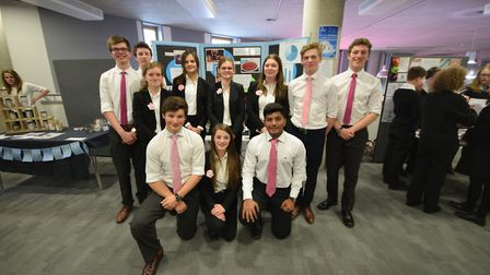 The Wick & Wax Company team from Woodbridge School, winners of the 2016 Suffolk Young Enterprise com