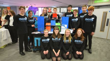 The Memo-it team from Debenham High School who were runners up in the 2016 Suffolk Young Enterprise