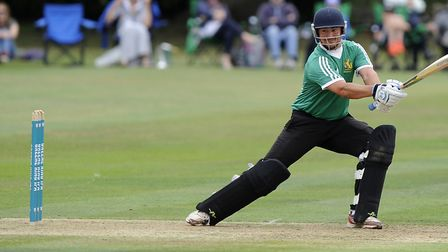 Bury St Edmunds new captain, Sean Park, seen here on his way to making 51 runs against Ealing CC in
