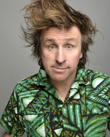 In Milton Jones is Out There we see him question the importance of his own nonsense. Picture: Steve