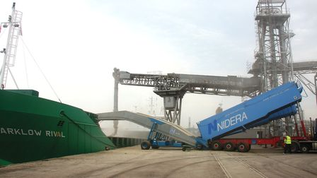 Grain being exported by Ipswich-based grain, seed and fertiliser firm Nidera.