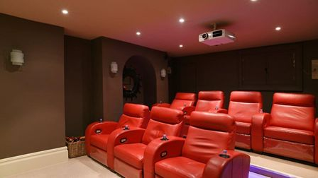 The seven-seat private cinema located inside Norman Tower House in Bury St Edmunds. Picture: BEDFORD
