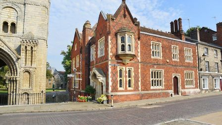 Norman Tower House in Bury St Edmunds, which is up for sale for £1.45m. Picture: BEDFORDS