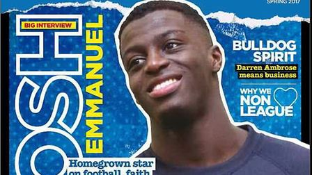 Emmanuel is the cover star of the current issue of Kings of Anglia