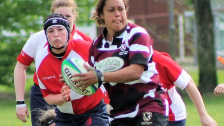 Eastern Counties' Libby Lockwood looks to distribute the ball